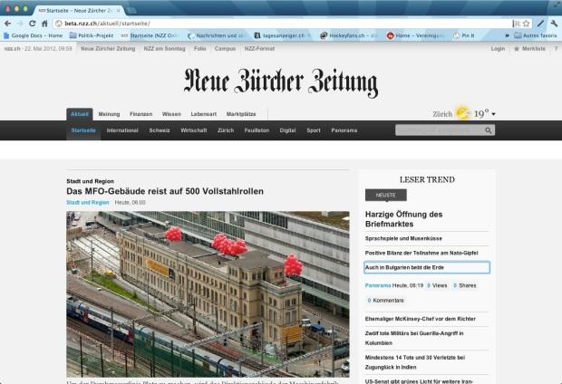NZZ.ch Beta Startseite