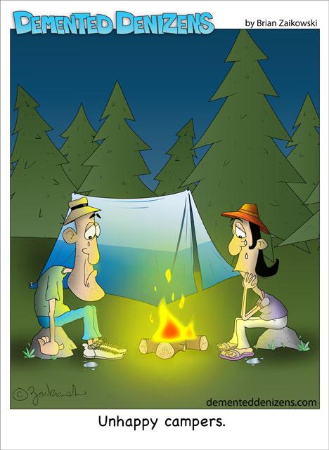 """""""Unglückliche Camper."""""""
