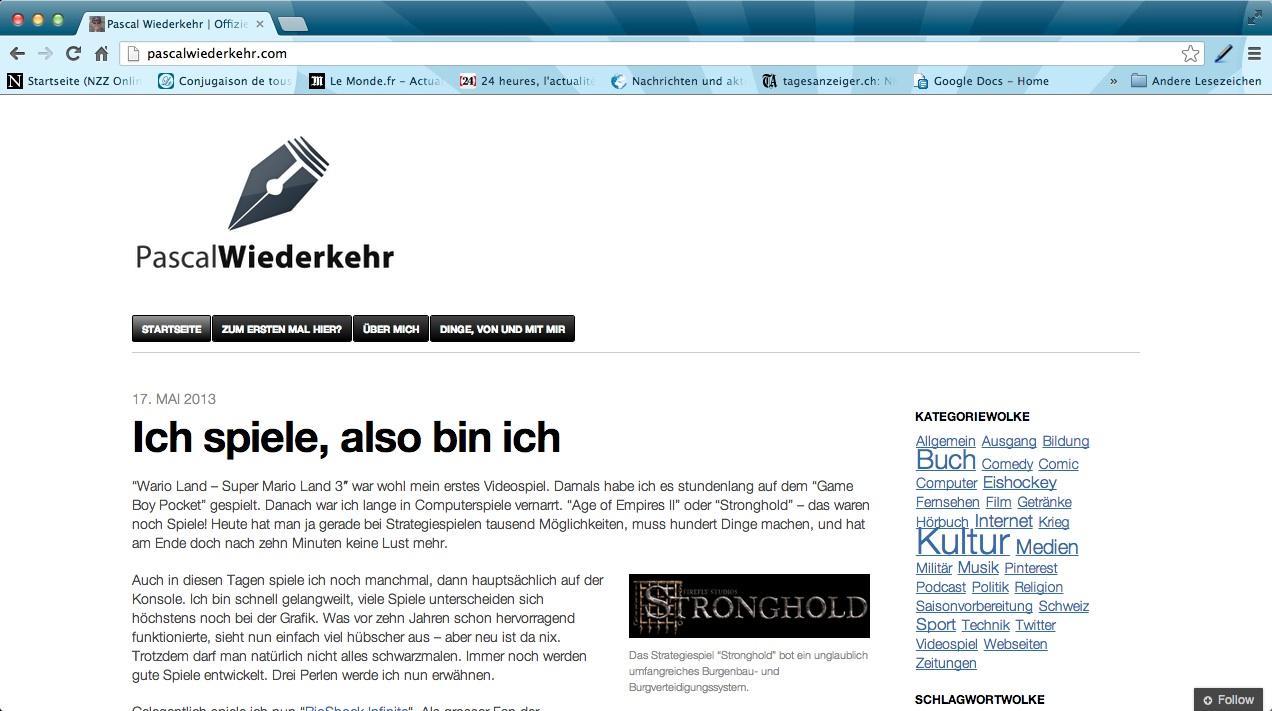 Screenshot pascalwiederkehr.com