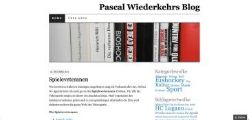 Screenshot pascalwiederkehr.com 2011