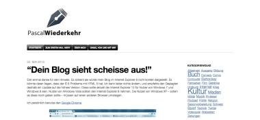 Screenshot pascalwiederkehr.com 2013