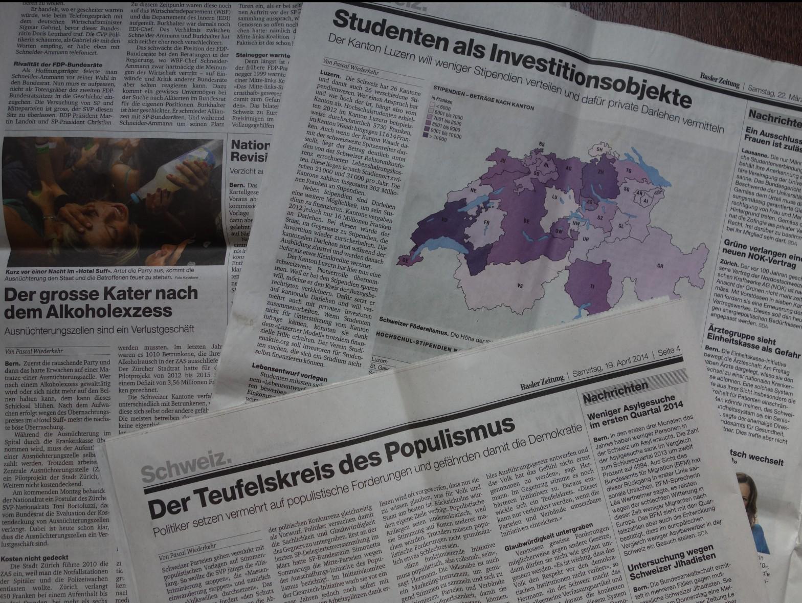 Artikel von Pascal Wiederkehr in der Basler Zeitung