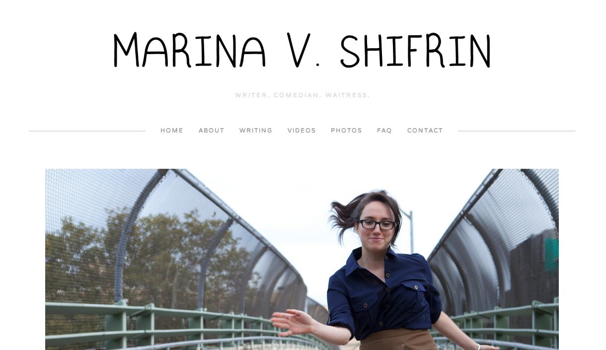Screenshot Webseite marinavshifrin.com
