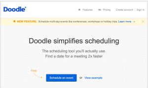 Screenshot doodle.com Startseite
