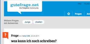Screenshot gutefrage.net