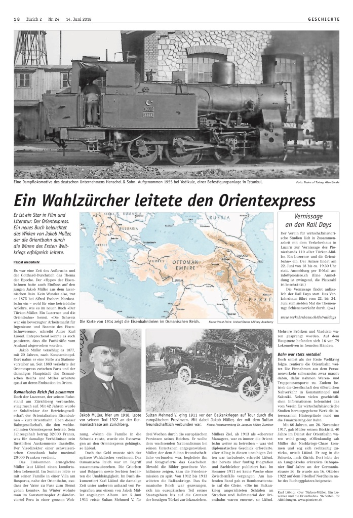 Zürich 2: «Ein Wahlzürcher leitete den Orientexpress»