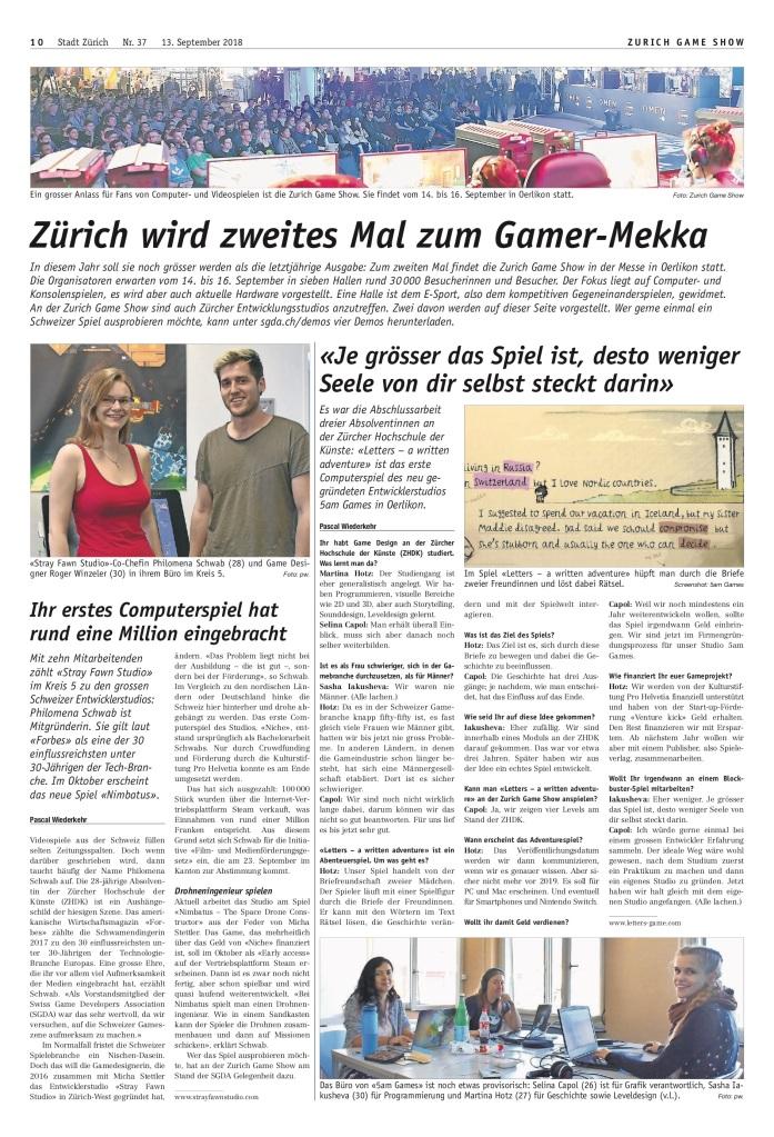 Zürich Nord: «Zürich wird zweites Mal zum Gamer-Mekka»
