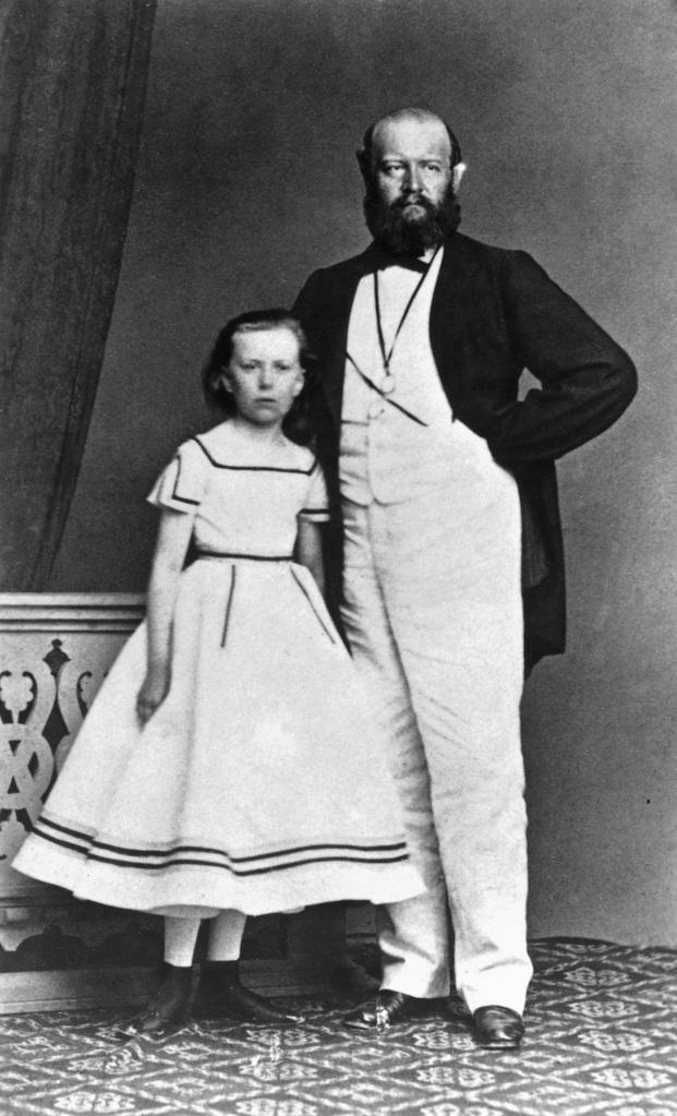 Lydia Escher mit ihrem Vater Alfred. Das Foto ist um 1869 entstanden. Foto: Privatarchive, Privatsammlungen