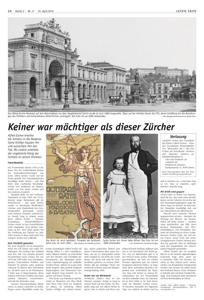 Zürich 2: «Keiner war mächtiger als dieser Zürcher»