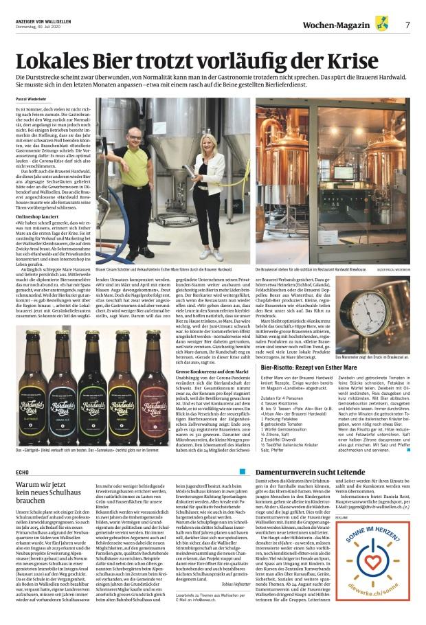 Anzeiger von Wallisellen: «Lokales Bier trotzt vorläufig der Krise»