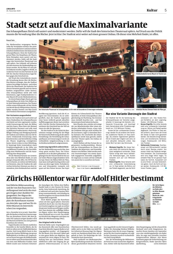 Züriberg: «Stadt setzt auf die Maximalvariante»