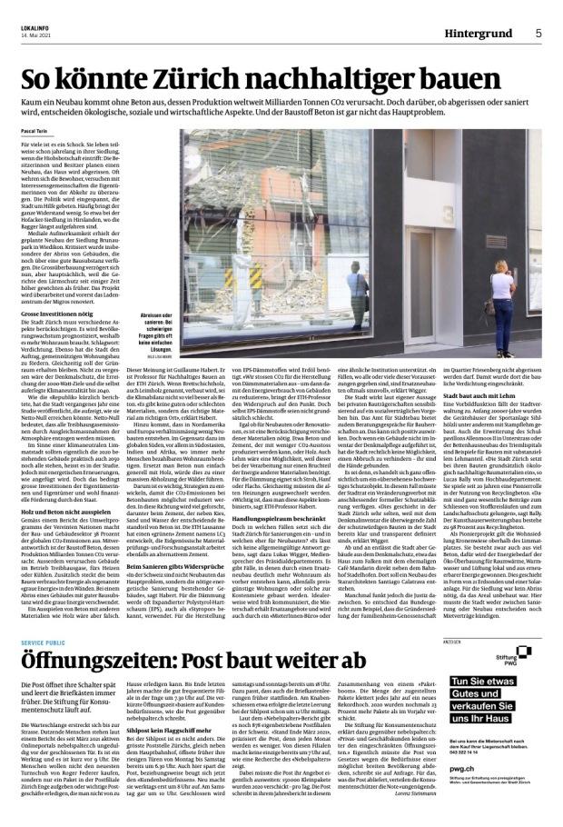 Züriberg: «So könnte Zürich nachhaltiger bauen»